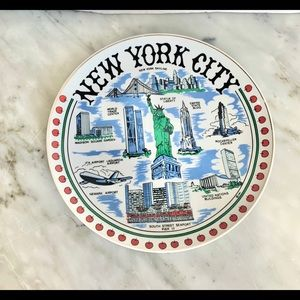 Vintage New York City Plate Twin Towers